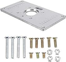 Wetour Placa de inserción de Mesa de fresadora de Aluminio 700C ...