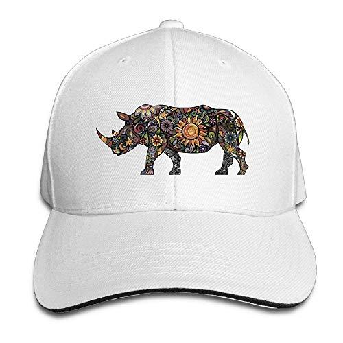 Hat Rhinoceros Art Denim Skull Cap Cowboy Cowgirl Sport Hats for Men Women