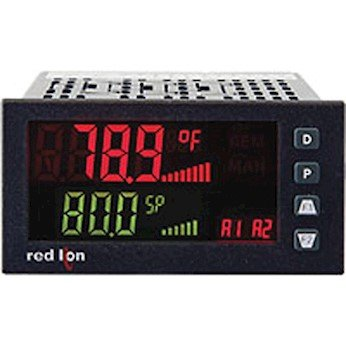 Red Lion PAX2C Temperature/Process PID Controller, 1/8 DIN, horizontal