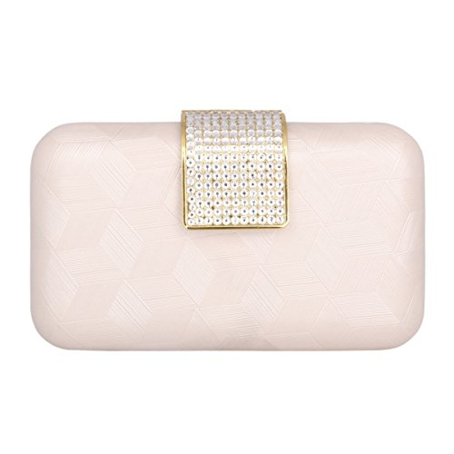 Evening Womens Case Chic Bags Clutches Damara Hard Rhinestone Pink Ft0wXP