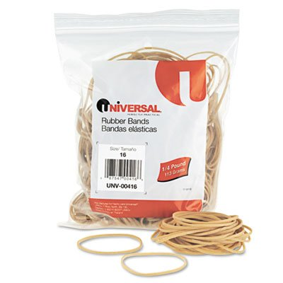Universal 00416 16-Size Rubber Bands (475 per - Warranty Band Limited