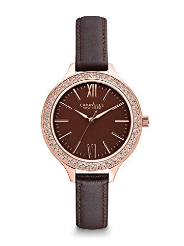 Caravelle New York Women's 44L124 Analog Display Japanese Quartz Brown Watch