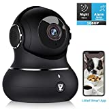 Home Security Camera, [2020 Newest] Littlelf 1080P Indoor Wireless WiFi IP Camera for Pet/Baby Monitor with Motion Detection/Tracking, 2-Way Audio, Night Vision, Cloud Storage (Black)