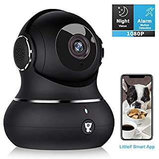 Home Camera, Littlelf 1080P Indoor WiFi Camera for Pet/Baby Monitor