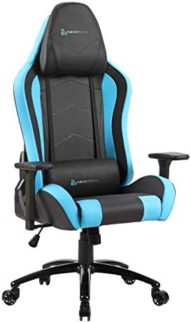 Newskill Takamikura - Silla gaming profesional (inclinación y altura regulable, reposabrazos ajustables, reclinable 180º), Color Azul 14