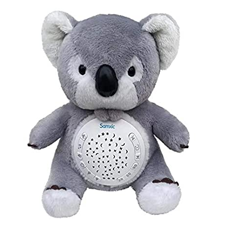 Spring Bud Baby White Noise Sound Machine & Shower Gifts | 12 Baby-Soothing Sounds and Sleep Aid Night Light | Portable Soother Stuffed Animals Koala Toy with Adjustable Volume, Auto-Off Timer (Grey) bedtime routine for babies Bedtime routine for babies – the ultimate guide, hack, and gadgets 41zSjm8nKGL