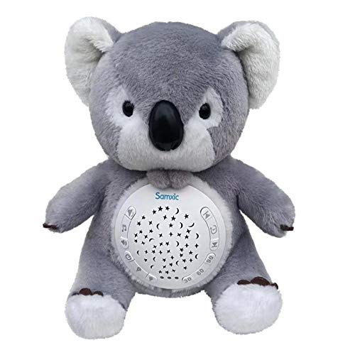 - Spring Bud Baby White Noise Sound Machine & Shower Gifts | 12 Baby-Soothing Sounds and Sleep Aid Night Light | Portable Soother Stuffed Animals Koala Toy with Adjustable Volume, Auto-Off Timer (Grey)