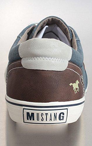 Mustang 4101-301, Zapatillas para Hombre, Azul (Dunkelblau 800) 800-dunkelblau
