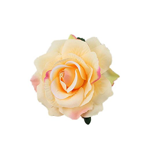 Lovefairy Beautiful Rose Flower Hair Clip Pin up Flower Brooch for Party Travel Festivals (Colorful -