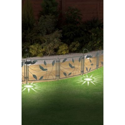 Pack Of 2 Garden Border Iron Fence With LED Solar Light (1035) Diamond  Lights To Light Your Garden Day And Night.: Amazon.co.uk: Kitchen U0026 Home