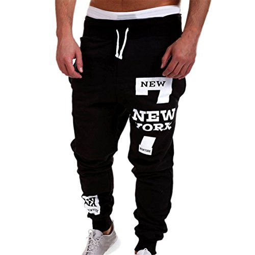 KuoShun Men's Relaxed Straight Fit Pants Fashion Joggers Running Sweatpants Trousers