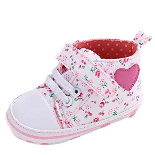 ? bébé fille sur toile à chaussures en forme de cœur Chaussures Sneaker antidérapant Semelle souple pour enfant