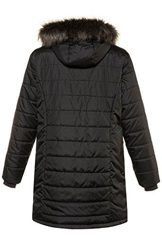 Blouson Manteau Popken Long Parka 713157 Hiver Noir Femme Ulla Revers Femme Tailles Veste Outwear Trench Pardessus Manteau Chaud Grandes Jacket wIOqAdY