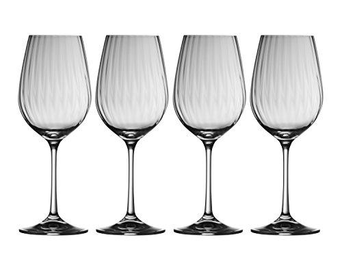 Set Galway Crystal (Galway Crystal 32002/4 Erne Wine Glasses (Set of 4), Transparent)