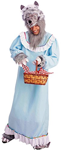 UHC Men's Granny Wolf Big Bad Wolf Grandma Fairytale Halloween Costume, OS -