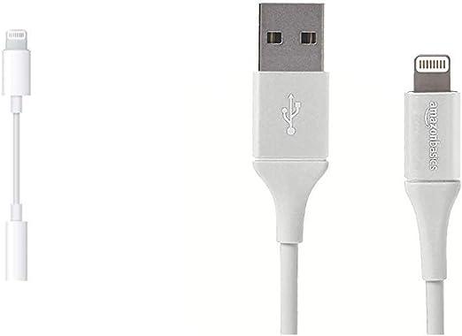 Apple Lightning Auf 3 5 Mm Kopfhöreranschluss Adapter Amazon Basics Lightning Auf Usb A Kabel Premium Kollektion 0 9 M 1er Pack Silber Alle Produkte