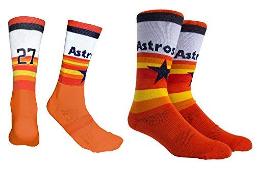 - PKWY by Stance Men's 2-Pack Houston Astros Team & Jose Altuve #27 Player Uniform Socks (Large)