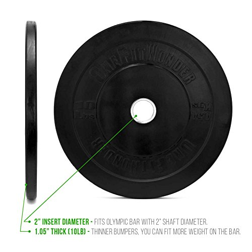 260 Lbs New Bumper Plates Set Olympic Plates Solid Plates Weight Plates for Crossfit Training Weight Lifting Gym By Onefitwonder Pair of 10 lbs,15 lbs,25 lbs,35 lbs,45 lbs