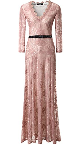 Celebrity Wedding Gowns (V Neck Pink Celebrity Dresses 2015 Fashion Party Night Out Gowns, Pink, XX -)