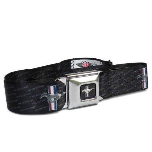 Ford Mustang Pattern Seat Belt Buckle Strap - Belt Ford Belt Seat