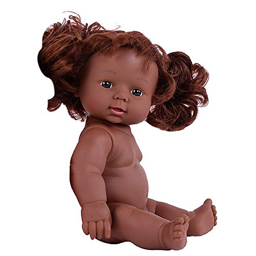 serryNICE Black Girl Dolls African American Dolls Lifelike 12 inch Movable Joint Play Doll for 1 2 3 4-5 6 Years Old Girls Boys Age 6-11 Child Kids