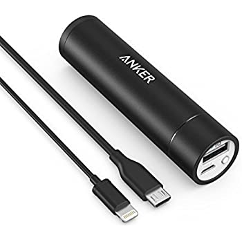 Anker 3rd Gen PowerCore+ Mini 3350mAh Portable Charger External Battery Power Bank with PowerIQ Technology + [Apple MFi Certified] 3ft / 0.9m Lightning Cable