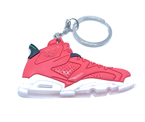 WetheFounders Air Jordan Retro 6 Red White Black Shoe Keychain Collectable from Wethefounders
