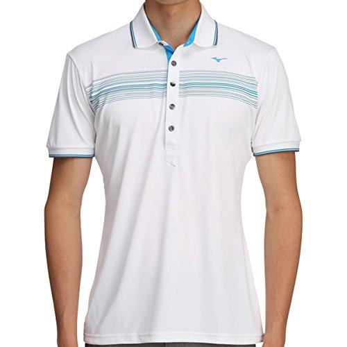 ミズノ MIZUNO 半袖シャツ?ポロシャツ ソーラーカット 半袖シャツ 52MA7013 ホワイト 01 L