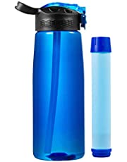 DoBrass Super Filtered Water Bottle for Hiking, Camping, Travelling Abroad, Outdoor and Daily Use | BPA Free & Leakproof