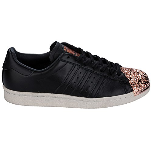adidas Womens Originals Superstar 80S Metal Toe Trainers in Core Black C02yN