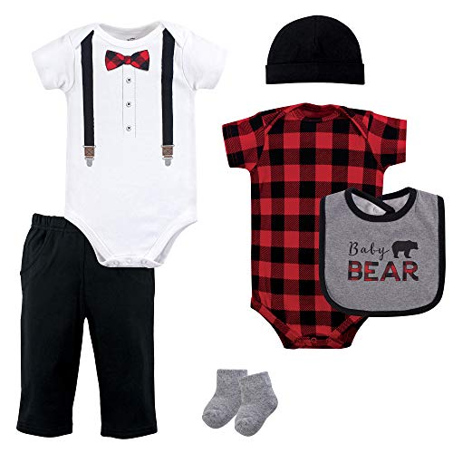 Little Treasure Unisex Baby Clothing, Lumberjack Bow Tie 6-Piece Set, 0-3 Months -