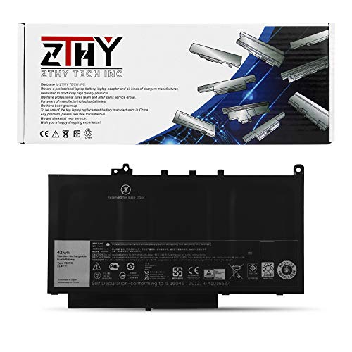 7CJRC Primary Battery for Dell Latitude E7470 E7270 Series Laptop 21X15 021X15 451-BBWR KNM09 V6VMN 11.4V 42WHr 3-Cell by ZTHY