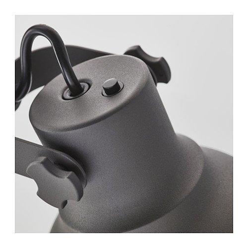 Ikea Work lamp with wireless charging, dark gray 1028.81114.1430 by IKEA