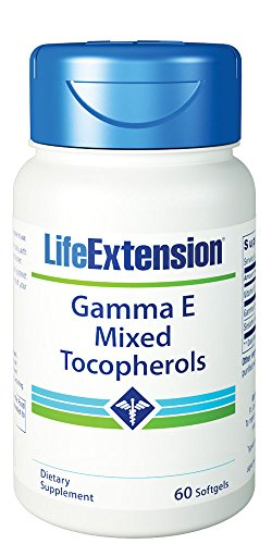 Life Extension Gamma E Tocopherol with Sesame Lignans Softgels, 60 Count