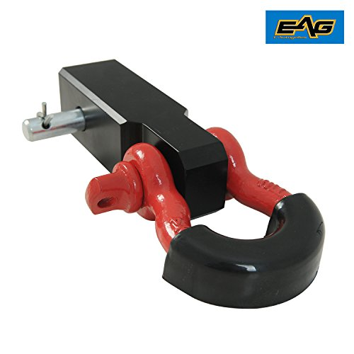 ch Reciever With Red 3/4-Inch D-Ring Shackle and Black Isolator and Pin ()