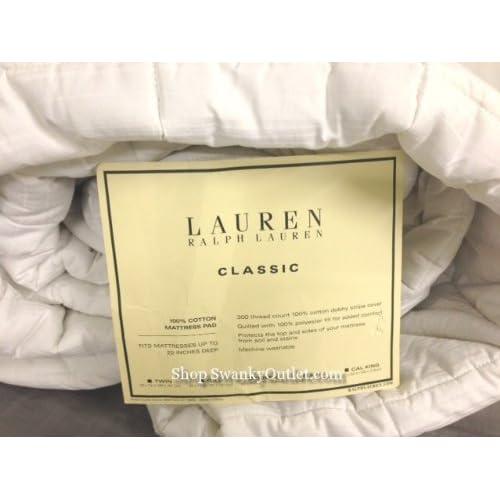 New Lauren Ralph Lauren 300 Thread Count Dobby Stripe Twin Mattress Pad free shipping