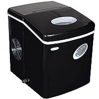 Nueva máquina de hielo portátil AI-100BK de 28 libras, negra
