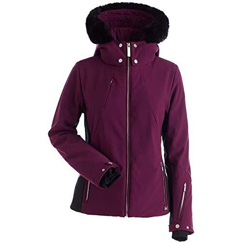 NILS Womens Pia Faux Fur Jacket (Plum/Black / 2)