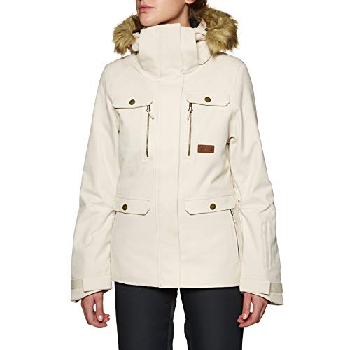 Rip Curl Chic Fancy Snow Jacket X Small Crystal Grey