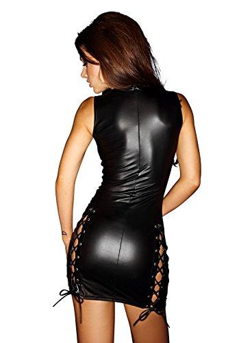 Kleid Größe 10XL Noir Minikleid Wetlook 50 in 5XL auch FaS0F079 von Handmade Übergröße S PaZHqIxw5