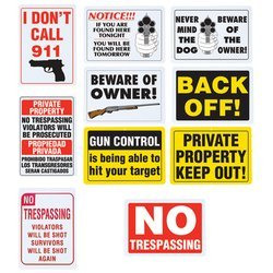 BF Systems SN10OUT Sign Set (10 (Keep Out Sign)
