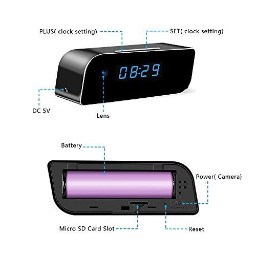 Eyeclub Wi-Fi Hidden Camera Clock Hd Live Video Streaming -1257