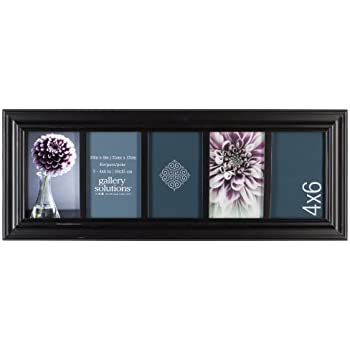 Amazon.com - Gallery Solutions Black Linear Collage Frame with 5 ...