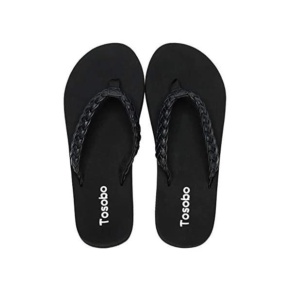 Women's Flip Flops with Arch Support Comfort Thong Sandals for Women with Cushion Footbed and Non-Slip Sole
