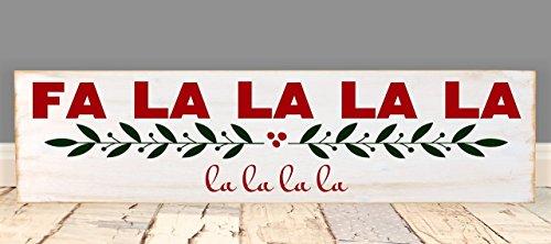 Fa La La La La Vinyl Wood Christmas Sign 6