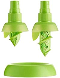 Favor 2 Sprayers and 1 Base Green Citrus Sprayer Set - Lemon Juice Sprayer - Lemon Juice Extractor Set deal