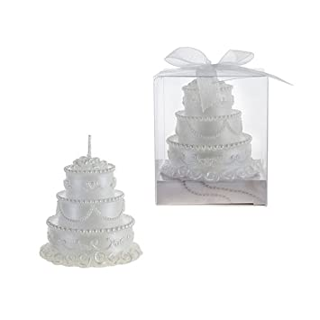 Three Tear Wedding Cakes.Amazon Com Three Tier Wedding Cake Candle In Gift Box White Case