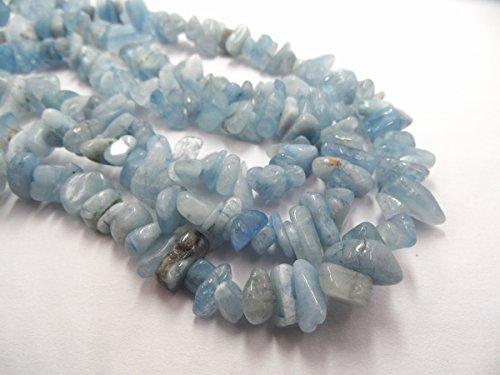 TheTasteJewelry Genuine Aquamarine Chips 5-8mm 18'' Jewelry Making Necklace Bracelet