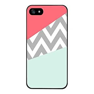 Mint & Coral Chevron Block Hard Back Case Cover for iPhone 6 Plus(5.5 inch) 4169537M14490041
