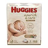 HUGGIES Nourish & Care Baby Wipes, Sensi...